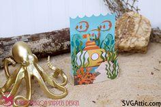 Submarine box card from CG Under the Sea #svgattic #svg