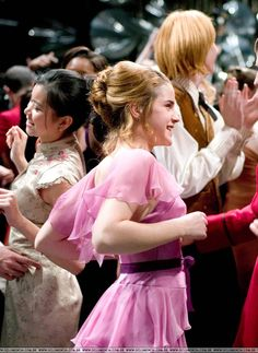 Emma in ''Harry Potter And The Goblet Of Fire'' Harry Potter Hermione Granger, Lupin Harry Potter, Harry Potter Goblet, Draco And Hermione, Harry Potter Facts, Harry Potter Books, Harry Potter Love, Harry Potter World, Ginny Weasley