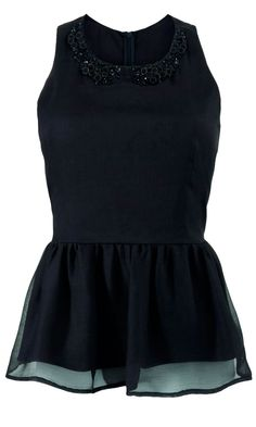Matalan AW12 Black Peplum Top, £20