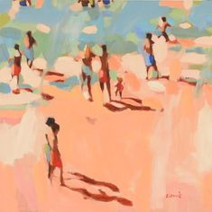 Beachlife 4 Limited Edition Art Print By Elizabeth Lennie Painting Collage, Figure Painting, Art Paintings, Painting & Drawing, Beach Paintings, Alex Colville, Barnett Newman, Audrey Kawasaki, Andrew Wyeth
