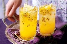 This gorgeous Passion-fruit, lemon & gin Collins is perfect after a long day!
