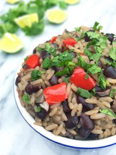Cuban Black Beans and Rice - with veggie broth it's #vegan (and make this with brown rice because white rice is just wrong) :)