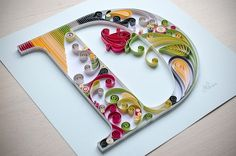 Quilled letter D | Dream on Behance LOOK ON LETTERING BOARD FOR OTHER LETTERS