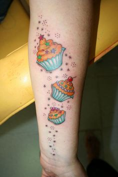I like the idea of more than one cupcake! And each slightly different