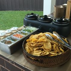 Nacho Station .. Great idea for teens while dancing the night away