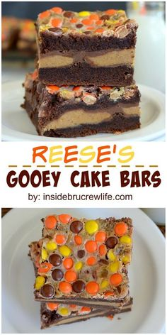 You will love these Reese's Gooey cake Bars. Reese's candies turn these cake bars into a peanut butter lover's dream dessert. Smores Dessert, Dessert Bars, Cake Bars, Baking Recipes, Cookie Recipes, Dessert Recipes, Bar Recipes, Japanese Sweets, Japanese Candy