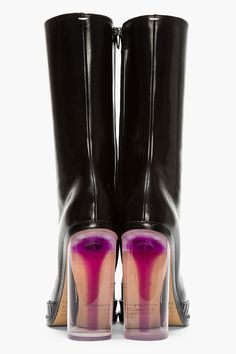 Maison Margiela clear lucite chunky heels with floating stiletto in pink. I actually have the pump with ankle strap but the photo eludes me.