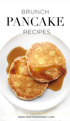 Brunch Pancake Recipes | Martha Stewart Living - Whether you call them flapjacks, hotcakes, or pancakes, we've got 23 recipes perfect for brunch, including banana pancakes, whole-wheat buttermilk pancakes, and orange-ricotta pancakes.