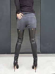 Damen Schuhe, Günstige Jessica Simpson Overknee Stiefel