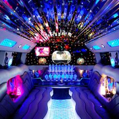ride in a limo like this.
