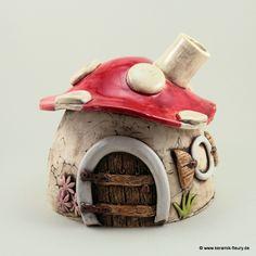 Duftlampe / Räucherhäuschen  - FLEURY - Kreative Keramik für Haus und Garten