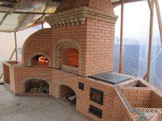 #cocinasDeConcreto Cabin Homes, Log Homes, Barbeque Design, Pizza Oven Fireplace, Parrilla Exterior, Outdoor Kitchen Plans, Brick Bbq, Outdoor Garden Bench, Outdoor Fireplace Designs