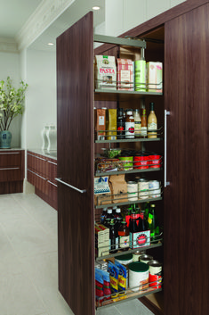 Custom Tall cabinet - Wood-Mode custom cabinets - Inplace Studio - Custom Cabinets - Kitchen Organization