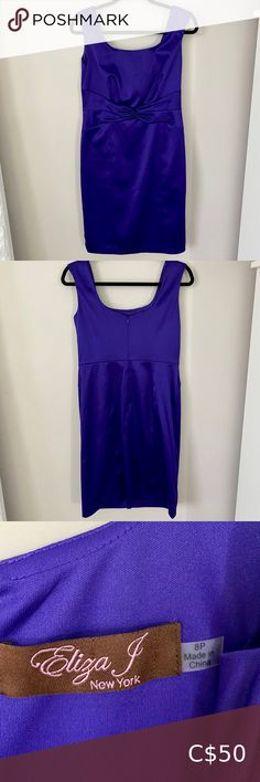 Eliza J Purple Dress Petite Size 8 Worn once for an event- in great condition. Size 8 Petit Eliza J Dresses Wedding Eliza J Dresses, Petite Dresses, Plus Fashion, Fashion Tips, Fashion Trends, Petite Size, Purple Dress, Wedding Colors, Vibrant
