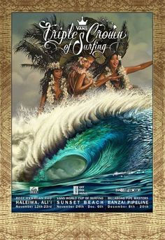 The evolution of the Triple Crown of Surfing event posters since featuring a different surf artist and artwork every year Surf Competition, California Surf, Canvas Paper, Canvas Art, Surf Art, Pop Surrealism, Surfs Up, Illustrations, American Art