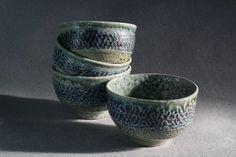 Saltfired Teabowls..beauty!