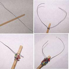 diy hair sticks. I love hair sticks!