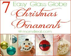 7 Easy Class Globe Christmas Ornaments from @Jess Pearl Liu Kielman         {Mom 4 Real}  #Christmas #Ornaments #ChristmasDecor
