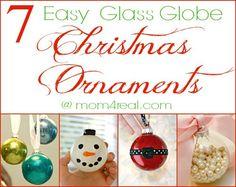 7 Easy Glass Globe Ornaments