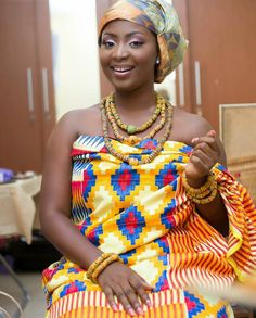 Fashion: In 2015 Traditional Ghanaian Brides Opted For Kente As The Choicest Fabrics For Their . African Wedding Attire, African Attire, African Wear, African Women, African Weddings, African Style, African Beauty, African Design, African Inspired Fashion