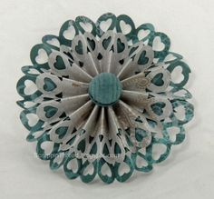 Paper and Fiber Arts: Heart Chain Edge Punch Makes a Beautiful Paper Flower