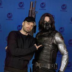 Sebastian Stan and Winter Soldier [wizardworldportland]