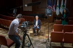 12:11 pm - Another interview. Here McCarthy prepares to speak with MSNBC's Andrea Mitchell. (11/15)