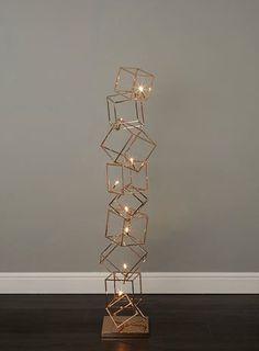 Dexter 8 light copper cube floor lamp - floor lamps - Home, Lighting & Furniture  180 quid