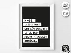 """PROBLEM REKLAMATION."" | typo poster | size XL/XXL von FUNI SMART ART auf DaWanda.com"