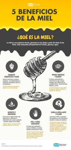 5 beneficios de la miel. #miel #salud