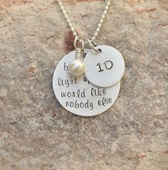 One direction necklace  Hand stamped necklace  One by brandedheart, $18.00