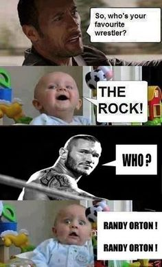 The Rock and Randy Orton . who's your favourite wrestler Randy Orton, Wwe Pictures, Funny Pictures, Wrestling Memes, Raw Wrestling, Wrestling Divas, Wwe Quotes, Wwe Raw And Smackdown, Wwe Funny