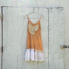 COUPON code SaLE Funky Slip Dress / Eco Vintage Dress by CreoleSha, $77.99