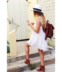 Back packs are a great way to carry a load, love the hat too www.fashionaccessoryshop.com #fashion