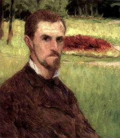 Gustave Caillebotte · Autoritratto · 1875 · Ubicazione ignota