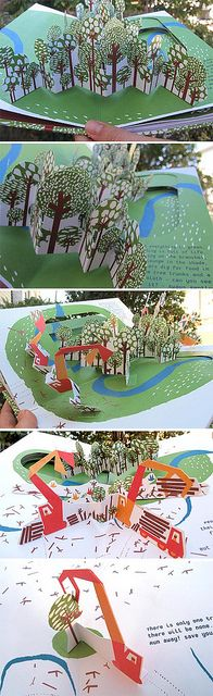 In the Forest - a pop-up book - internals 2 by thedailysmudge, via Flickr
