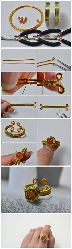 Tutorial for Wire Wrapped Ring within Two Steps