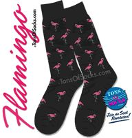 Men's Pink Flamingo Socks-would match the pink accessories