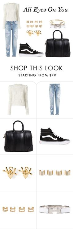 """All Eyes On You"" by anaelle2 ❤ liked on Polyvore featuring Isabel Marant, Dsquared2, Givenchy, Vans, Yves Saint Laurent, Maison Margiela, Hermès and Aéropostale"