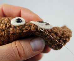 How to embroider . Faces for Amigurumi Part 1: Using Safety Eyes And Simple Embroidery - Step 23