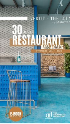 30 Best Restaurant Interior design in India is a collection of amazing Restaurant + Cafes + Bars design around the country, with this E-Book we believe to provide design inspiration to the readers. Also, the e.book is a well-curated design from the most innovative and established design firms. Restaurant Interior Design, Cafe Interior, Cafe Bar, Design Firms, Restaurant Bar, Design Inspiration, House Design, India, Country