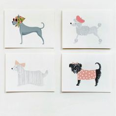 Rifle Paper Co. Assorted Girlie Dog Note Cards