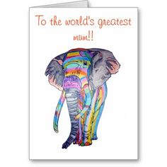Rainbowphant #Mothers #day #card