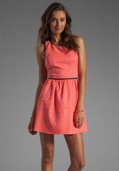 PARKER Channing Floral Dress in Grapefruit Combo
