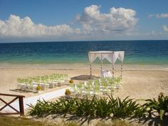 Lovely beach setting for a destination wedding at NOW Sapphire Resort & Spa in the Riviera Maya