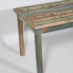 Meuble tv angle ethnique bois recycl color meuble - Meuble cuisine bois recycle ...