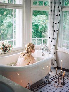 Bubble Bath Boudoir Session | Veresk Fine Art Photography Photography on @burnettsboards via @aislesociety