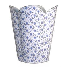 THE WELL APPOINTED HOUSE - Luxuries for the Home - THE WELL APPOINTED HOME Blue Provencial Decoupage Wastebasket and Optional Tissue Box - Nursery Wastebaskets & Tissue Boxes - Children