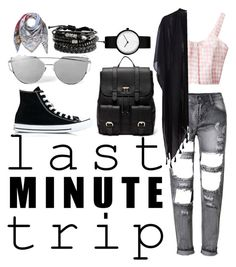 """last minute trip"" by emie-black ❤ liked on Polyvore featuring Pieces, Converse, Sole Society, ESCADA and lastminutetrip"
