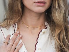 Gold Leaf Choker View Missoma's stunning designer jewellery collections, including engravable friendship bracelets, delicate diamond pave charms and personalised pieces for the perfect gift.